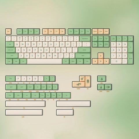 PG Retro full set keycaps 138 keys