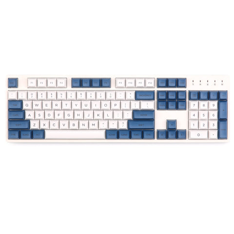DSA PBT Blue and White keycaps set 145 keys