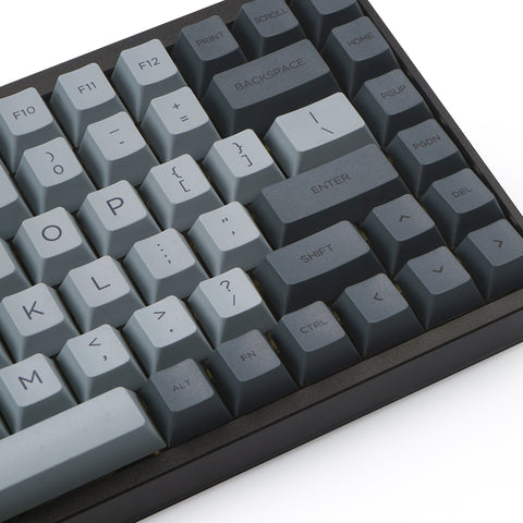 Cement grey PBT Dye-sub Keycaps Set