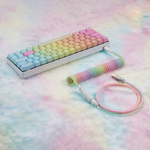 KBDfans Colorful Handmade Custom Mechanical Keyboard USB-C Cable