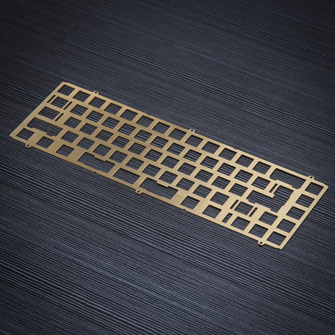 KBD67MKII soldered pcb Brass Plate (4323532439691)