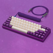 KBDfans Purple Handmade Custom Mechanical Keyboard USB-C Cable