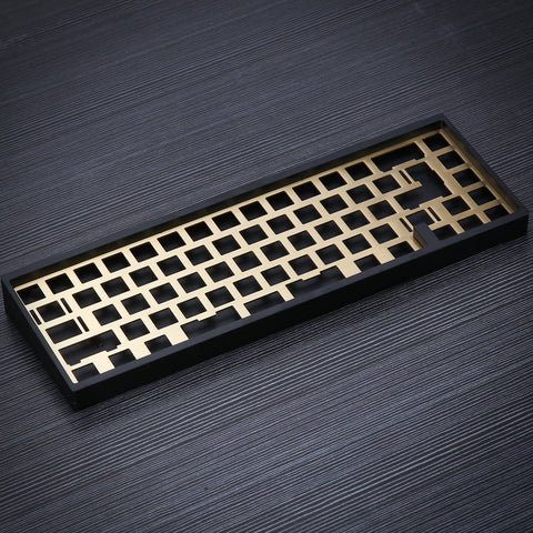 KBD67MKII soldered pcb Brass Plate
