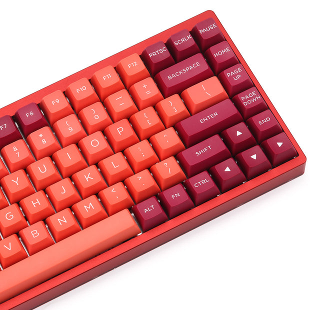 WINMIX Lava Orange PBT Doubleshot keycap Set