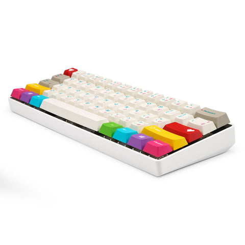 Fully assembled 60% plastic mechanical keyboard with EPBT Keycaps