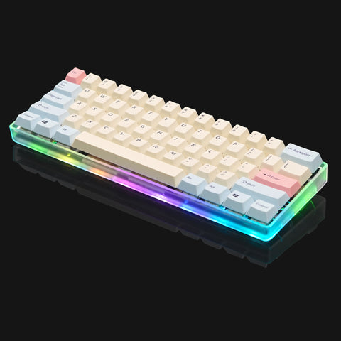 FULLY ASSEMBLED 60% Transparent Mechanical Keyboard