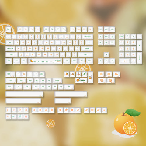 NP Orange Keycaps set