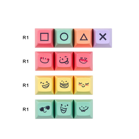 PBT SA chalk Keycaps set (2248373796912)