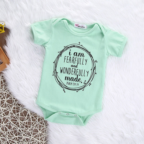 Wonderfully Made Mint Onesie
