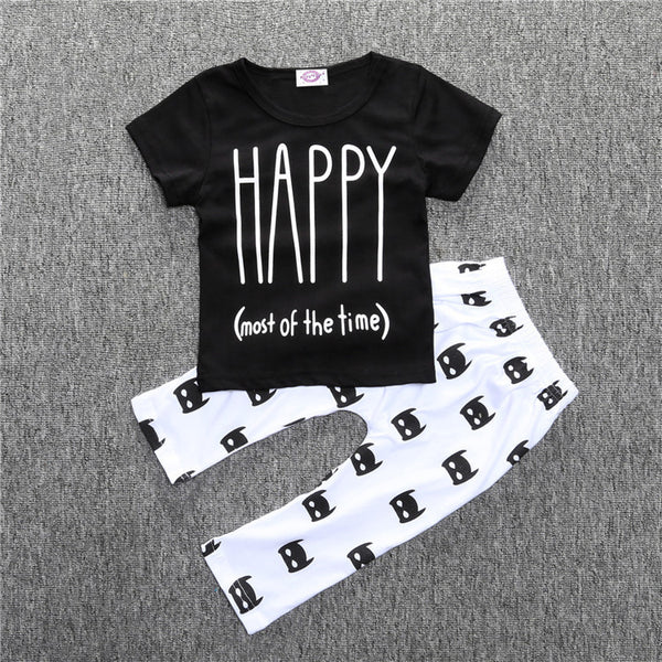 Happy (Mostly) T-Shirt & Pants Set