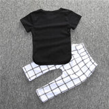 Geometric T-Shirt & Pants Set