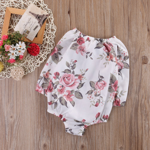 Floral Long Sleeved Romper
