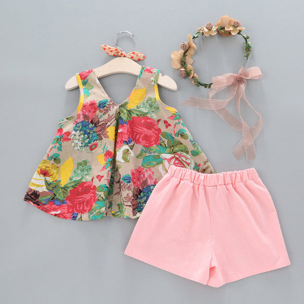 Floral top And Short Set