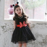 Polka Dot Bow Glittery Party Dress