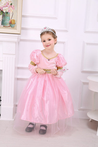 PInk Puff Sleeve Princess Dress