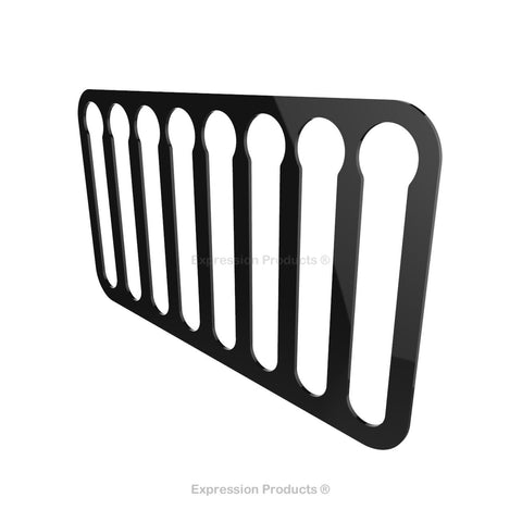 Magnetic Nespresso Original Line Coffee Pod Holder, shown in black with magnetic strips
