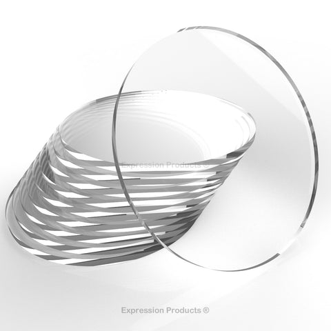 Transparent Acrylic Perspex Discs - Laser Cut Round Plastic Circles - Expression Products Ltd