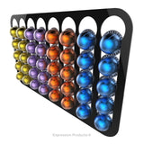 Magnetic Nespresso Vertuo capsule holder shown in black holding 40 pods