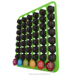 Dolce Gusto Coffee Pod Holder, Wall Mounted.  Shown in Lime Holding 48 Pods