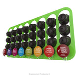 Dolce gusto coffee pod holder, wall mounted, half height.  Shown in lime holding 32 pods