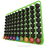 Dolce Gusto Coffee Pod Holder, Wall Mounted.  Shown in Lime Holding 80 Pods