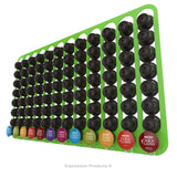 Dolce Gusto Coffee Pod Holder, Wall Mounted.  Shown in Lime Holding 96 Pods