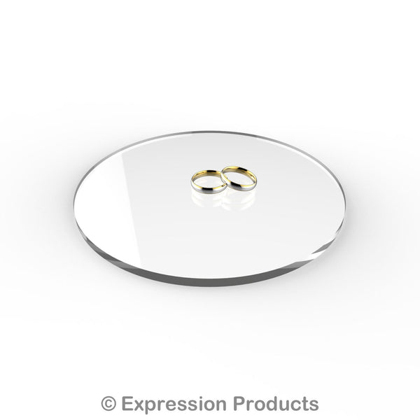 "Round Clear Acrylic Cake Display Board 4"" - 18"" - Expression Products Ltd"