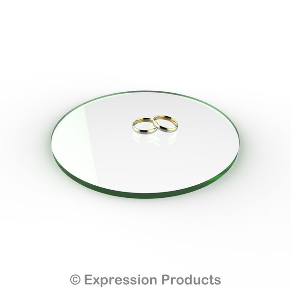 "Round Glass Effect Acrylic Cake Display Board 4"" - 18"" - Expression Products Ltd"