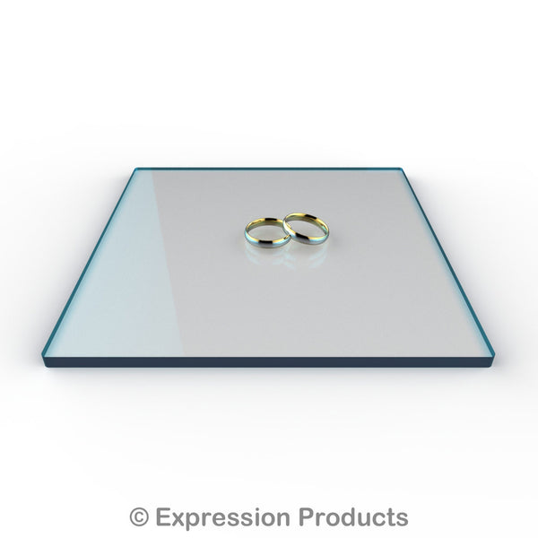 "Square Cool Blu Tint Acrylic Cake Display Board 4"" - 18"" - Expression Products Ltd"