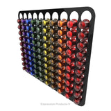 Magnetic Nespresso Original Line coffee pod holder shown in black holding 100 pods