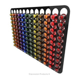 Magnetic Nespresso Original Line coffee pod holder shown in black holding 120 pods