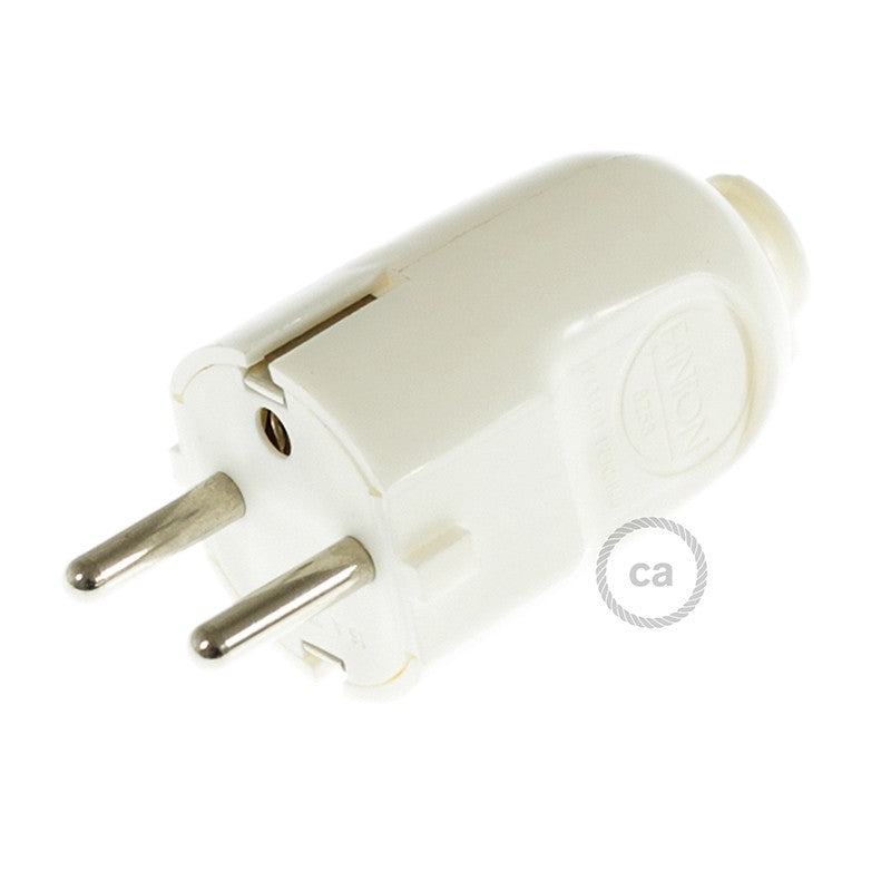 White Schuko Plug – Made in Italy