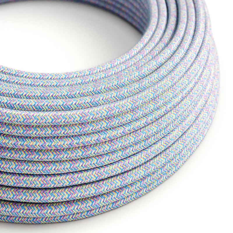 Round Electric Cable covered in Cotton - Lollipop RX09
