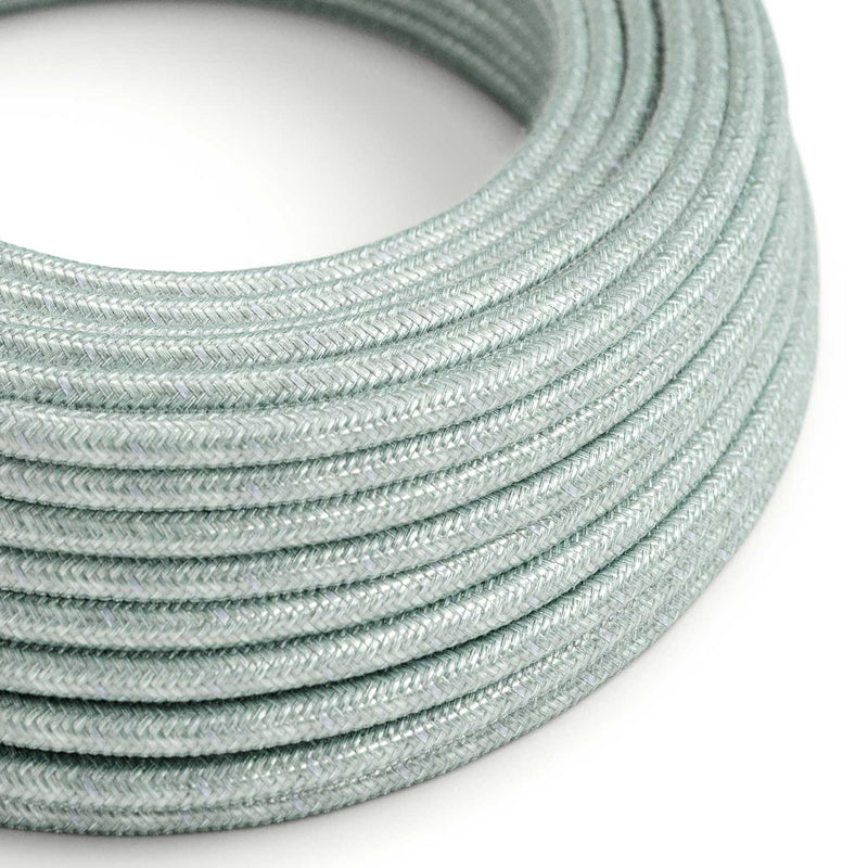 Round Electric Cable covered in Cotton - Blue Haze RX12