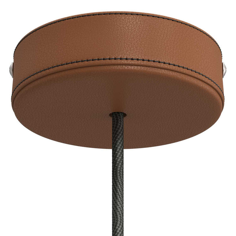 Leather covered wooden ceiling rose kit
