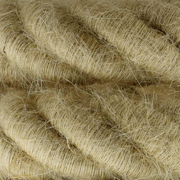 3XL electrical cord, electrical cable 3x0,75. Rough jute fabric covering. Diameter 30mm.