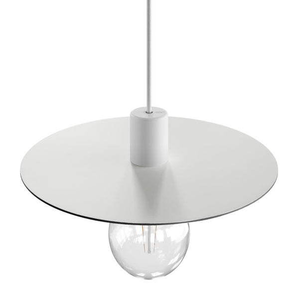 Oversize Ellepì flat lampshade in Dibond for outdoor pendant lighting, diameter 40 cm - Made in Italy
