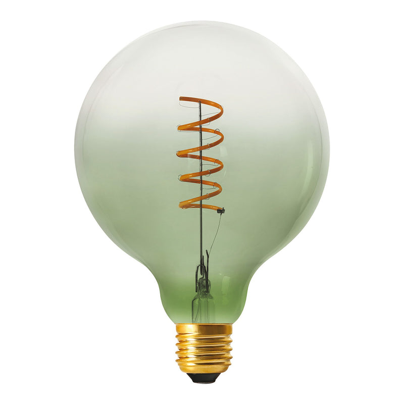 G125 Olive Green LED bulb, Pastel line, Spiral filament 4W E27 Dimmable 2250K