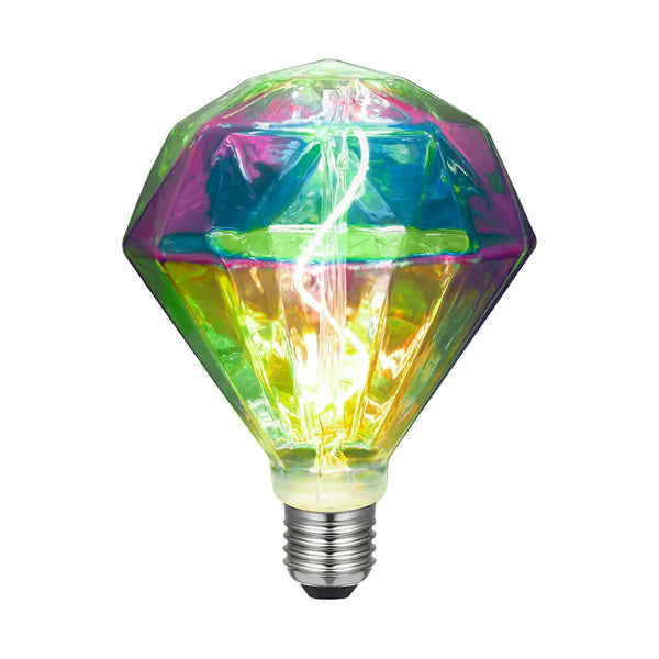 Diamond LED bulb curved filament 3W E27 Dimmable 2000K