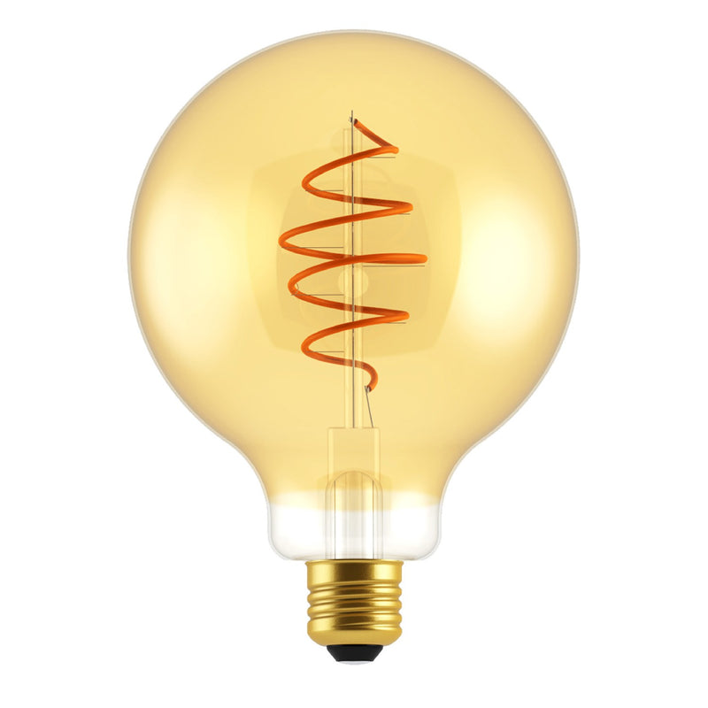 LED Blub Globe G125 Golden Croissant Line with Spiral Filament 5W E27 Dimmable 2000K