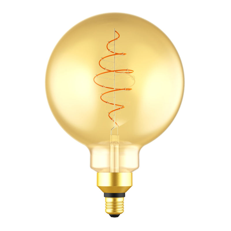 LED XL Bulb Globe G200 Golden Croissant Line with Spiral Filament 8.5W E27 Dimmable 2000K