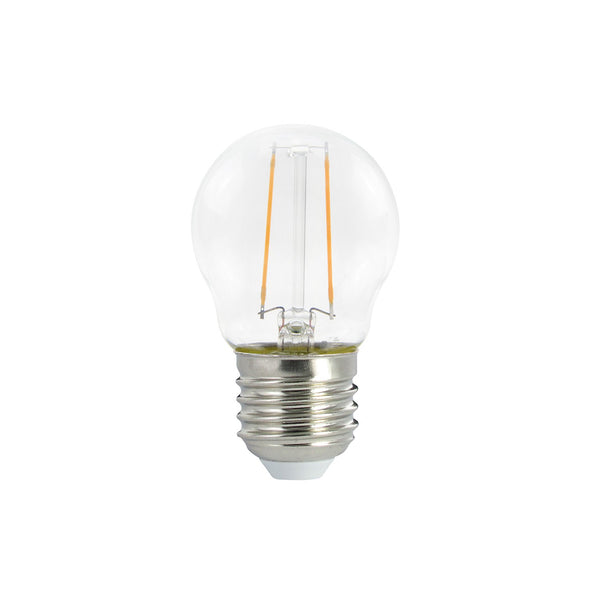 LED Globetta G45 Decorative Clear 2W E27 Dimmable 2700K Bulb