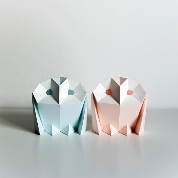 Barn Owl - Two DIY Colour Paperlamps-Candeeiros-Light & Store-Light & Store