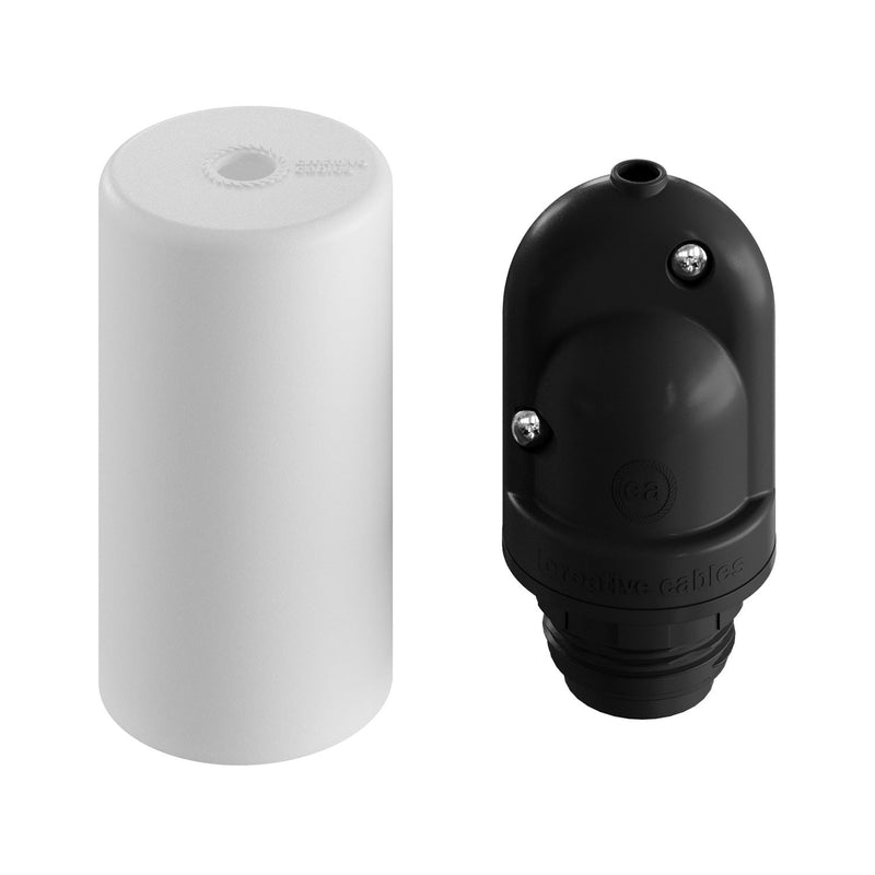 EIVA ELEGANT, E27 outdoor silicone lamp holder kit - the first IP65 re-wirable lamp holder worldwide