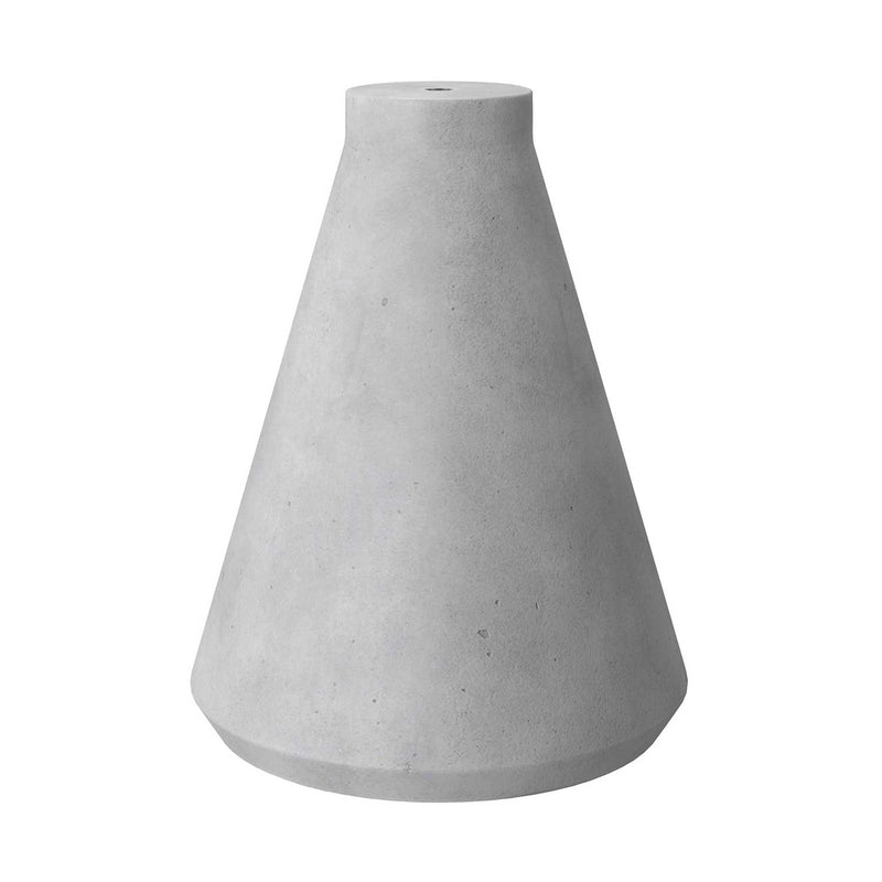 Funnel cement lampshade for suspension, with cable clamp and E27 lamp holder