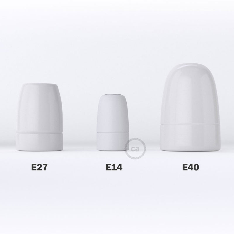 Porcelain E14 lamp holder kit