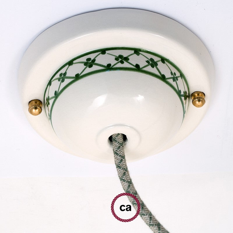 Ceramic Deco-82 Ivy ceiling rose kit
