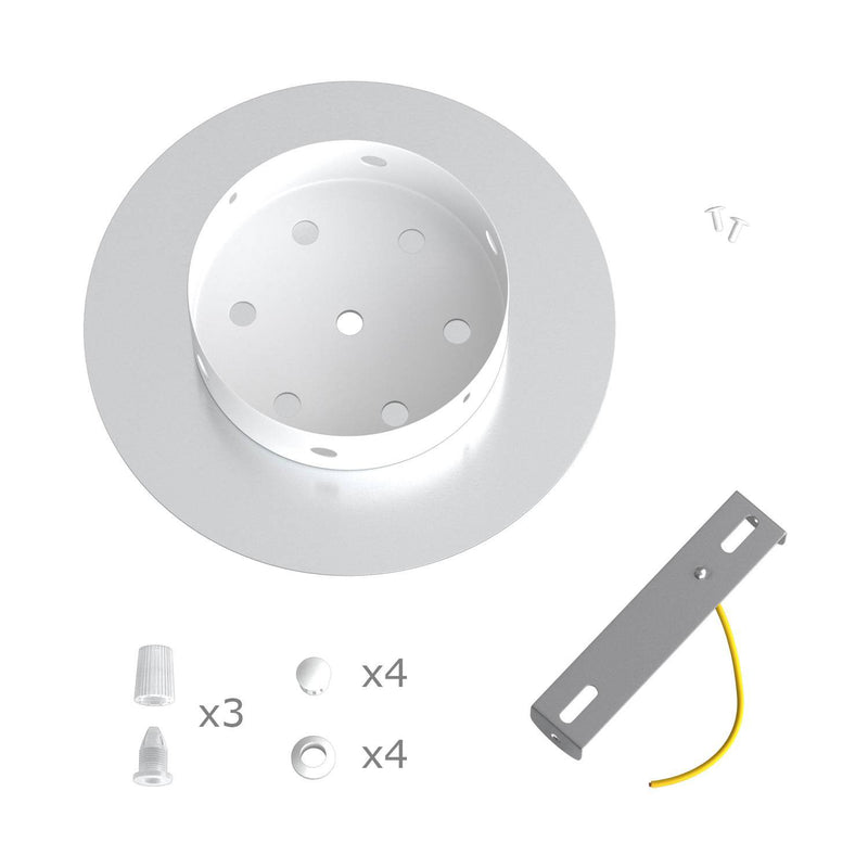 Round Rose-One 3 in-line holes ceiling rose kit, 200 mm Cover