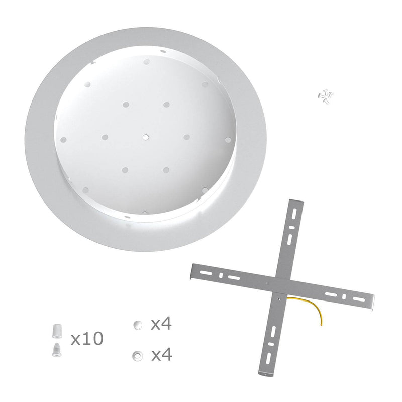Round XXL Rose-One 10-hole ceiling rose kit, 400 mm Cover