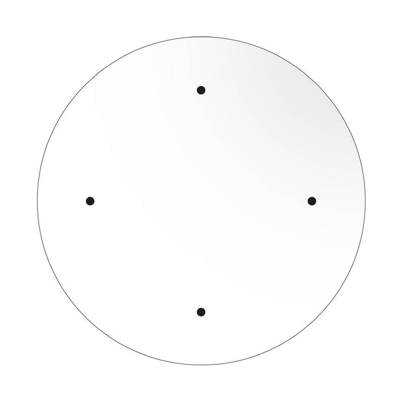 Round XXL Rose-One 4-hole ceiling rose kit, 400 mm Cover